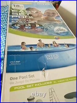 Intex 18' x 48 Easy Set Pool with Ladder, pump, filters, cover, vacuum, chemicals
