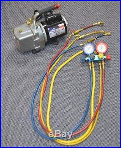 JB Eliminator DV-6E 6 CFM Vacuum Pump with Imperial Manifold Free Shipping