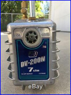 JB Industries 7 CFM 2 Stage Vacuum Pump DV-200N 1/2 HP