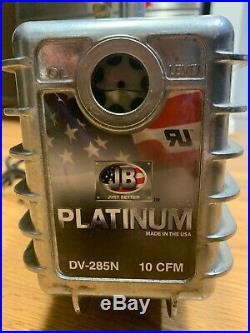JB Industries DV-285N PLATINUM 10 CFM 2 Stage Vacuum Pump