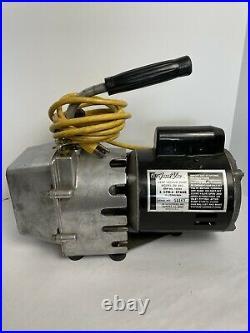 JB Industries Fast Vac Deep Vacuum Pump DV-85C 3 CFM 2 Stage 1/3 HP Refrig Evac