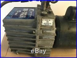 J/B Industries Fast Vac 5 CFM Vacuum Pump 2 Stage 1/2 HP Motor DV-142N