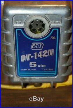Jb Vacuum Pump Dv-142n 5 Cfm 1/2 HP 2 Stage Made In USA Hvac Tool