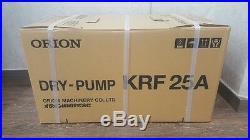 KRF25-V, New, ORION Dry Vacuum Pump, Made in Japan, Never Used, Siemens motor