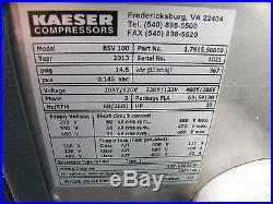 Kaeser 25 hp rotary screw vacuum pump BSV 100 atlas copco ingersoll rand sullair