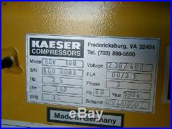 Kaeser 25 hp rotary screw vacuum pump BSV 100 quincy ingersoll rand sullair