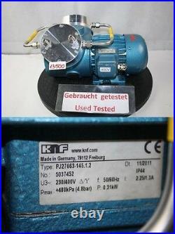 Knf Neuberger PJ27663-145.1.2 Doppelkolben Doppelkolben Membranpumpe vakuumpumpe