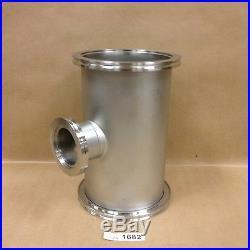 Kurt Lesker QF160-600-NL Custom ISO160 Nipple with ISO63 Port, OAL 10-1/2