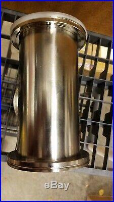 Last One! ISO 100 FLANGE VACUUM TEE, Stainless Steel, 3 Port Vacuum Chamber
