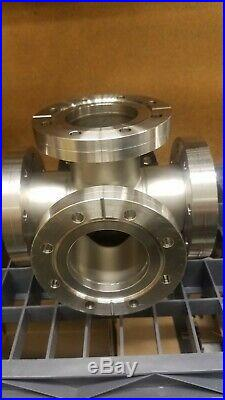 MDC 6 Way Cross Vacuum Chamber 6 x 4.5 Conflat Flanges