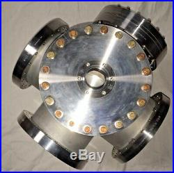 MDC 6-way Cross, 8 conflat, plus extra flanges