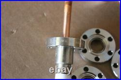 MDC High Vacuum Ceramic Electric Feed Through 2.75 Flange Current