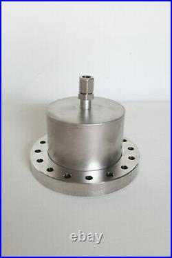 MDC High Vacuum Chamber 6 CF Flange with 1/4 Compression Fitting Port Stainless