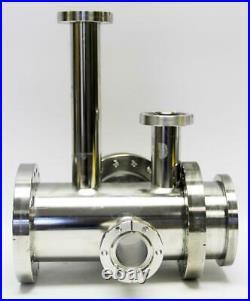 MDC High Vacuum Chamber 6 Ports, Three 6 & Three 2.75 Flanges, DN100 (8682)W