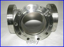 MDC High Vacuum Research Chamber 3-Way Stainless 4 1/2 Flange