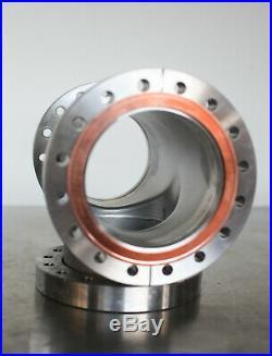 MDC Huntington Conflat Vacuum Flange 6 CF Tee // High Vacuum Chamber