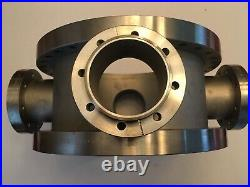 MDC Vacuum Custom 6-Way Cross two 12 CF & four 4.5 CF ports, 6 high