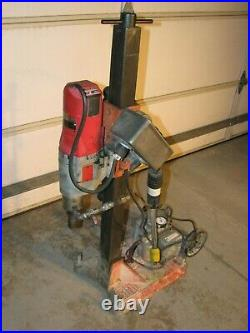 MILWAUKEE Core Drill 4096 Dymodrill 2 Speed Drilling Rig with Vacuum pump