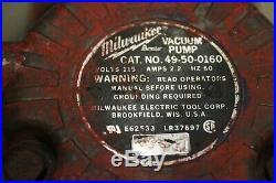 Milwaukee Dymodrill 4099 Core Drill with Vacuum Pump & Vac Pad & 4 Core Bit