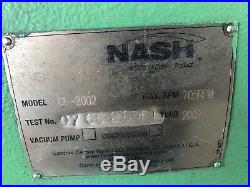 Nash CL-2002 Liquid Ring Vacuum Pump Package Skid 125 HP 2 Available