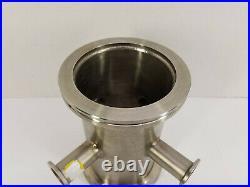 Nor Cal Vacuum 6-Way Cross Reducer ISO100-K Full Nipple to 4x KF25 Flange (7 L)