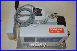 Oelikon Leybold Sogevac SV 40 BI SV40BI rotary vane vacuum pump withWarranty