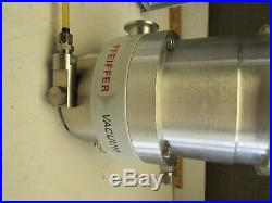 PFEIFFER TMH-260 TURBO MOLECULAR PUMP With TCP-380 CONTROLLER XLNT USED TAKEOUT