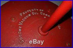 Pegasus Mobiloil Socony-Vacuum Porcelain gas pump station Lolipop sign Vtg