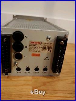 Pfeiffer TPH 240 Turbo Vacuum Molecular Pump with Pfeiffer TCP-121 Controller