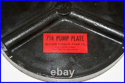 Pyrex Glass Bell Jar Vacuum Chamber with Cast Iron Pump Base, 8 3/8 ID, 17 Tall