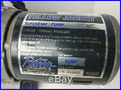 Ritchie Yellow Jacket SuperEvac 2 Stage Pump 6 CFM 93460 USA