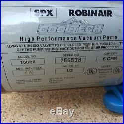 RobinAir 6 CFM 2-Stage 1/2 HP Vacuum Pump Model 15600