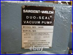 Sargent-Welch Duo-Seal vacuum pump Model 1405