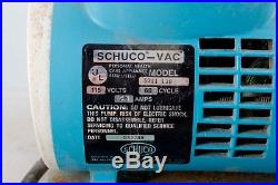 Shuco-Vac Model 5711 130 Aspirator Vacuum Suction Pump With Collection Bottle
