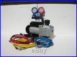 Snap-on Automotive Air Conditioning Gauge Set & Vacuum Pump