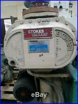 Stokes 212-H Roughing Pump And 607-1 Blower Package
