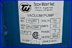 Tech West Vpl4S2 Dental Vacuum Pump System Operatory Suction Unit