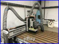 Techno CNC Router 4' x 8', Six port tool changer, Vacuum table with Pump