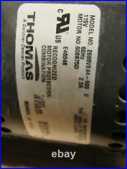 Thomas 1/3 hp HP Piston Air Compressor/Vacuum Pump, 115V AC