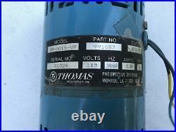 Thomas SR-0015-VP Motor-Mounted Oil-Less Continuous Rotary Pump 1/10 HP USA