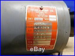 Tuthill LE Series Lubrication Oil Gear Pump 30LE. 9GPM 1/4HP Electric Motor
