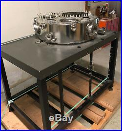 Ultra High Vacuum Chamber Stainless Steel Conflat CF CFF 28.5x 9 UHV SS +Stand