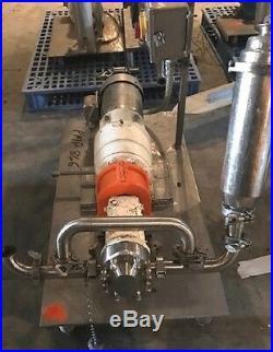 Used Waukesha SPX model 015-U2, 1.5 sanitary rotary lobe pump. With1 HP Motor