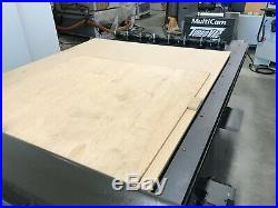 VERY CLEAN MultiCam CNC Router 3000 series 5x10 table includes vacuum pump