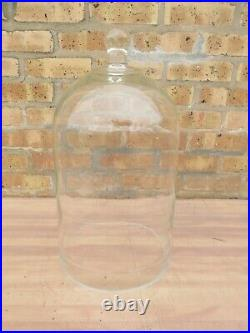 Vacuum Glass Bell Jar Dome 9 1/2 Diameter x 16 Tall