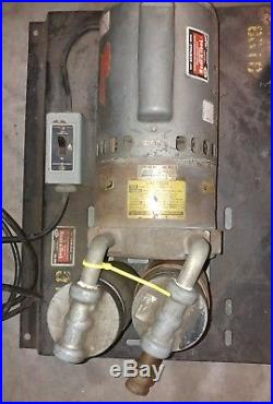 Vacuum Pump 3/4 HP Motor 115/230V 1725 RPM Good Working Cond