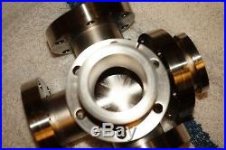 Varian 5-Way Cross Vacuum Chamber ConFlat 2.75 5 Flanges (2-fixed & 3-loose)