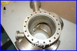 Varian 9-port Vacuum Chamber ConFlat (4x8, 1x6, 1x4.5, 3x2.75) Stainless