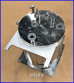 Varian Water Cooled Vacuum Chamber Sputter Coating 13 x 10 OD Feedthrough