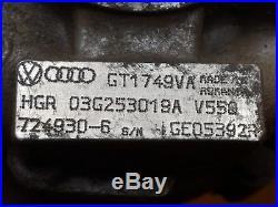 Vw Touran Mk1 2.0tdi'03 Azv Engine Turbo Turbocharger 03g253019a Garrett